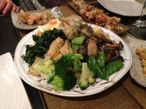 L'assiette de légumes à partager
