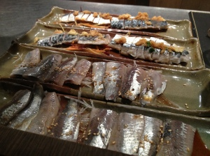 Les sashimis de sardines et de maquereaux