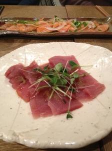 Les sashimis de thon