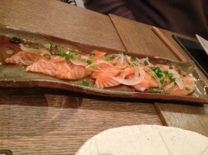 Les sashimis de saumon
